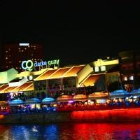 Clarke Quay, a noite de Cingapura